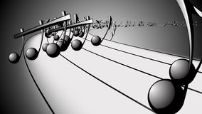 Geanimeerde achtergrond met muzieknoten, Muzieknota's - LIJN