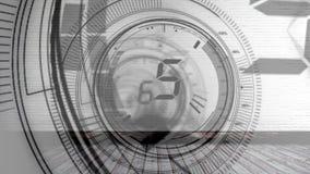 Geanimeerde aftelprocedurevideo royalty-vrije illustratie