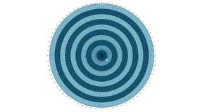 Geanimeerde bedrijfs polaire grafiek royalty-vrije illustratie