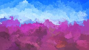 Geanimeerde bevlekte achtergrond naadloze lijnvideo - lavendelpurple en hemel blauwe kleuren