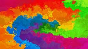 geanimeerde bevlekte het spectrum volledige kleuren van de achtergrond naadloze lijn videoregenboog stock video