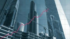 Geanimeerde chronologie van de groei van onroerende goedereninvestering stock video