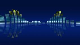 Geanimeerde elektronische muziekvu meters Naadloze lijn-bekwame 4K royalty-vrije illustratie