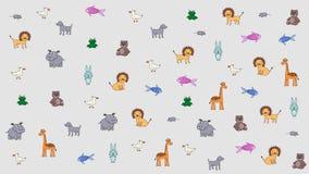 Geanimeerde gekleurde dieren, jong geitjeachtergrond Substraat voor titels, foto's en andere inhoud Het element van het ontwerp royalty-vrije illustratie