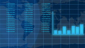 Geanimeerde groeiende financiële gegevens stock footage