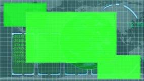 Geanimeerde groene Aarde die exemplaarruimten tonen