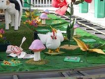 Geanimeerde kip stock foto