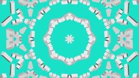 Geanimeerde lichte zwavel driedimensionele vormen op een turkooise achtergrond 3d geef terug stock illustratie