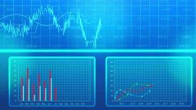 Geanimeerde lijn, grafieken in de presentatie die van het businessplan de bedrijfgroei tonen vector illustratie