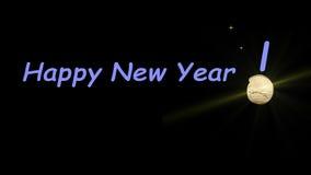 Geanimeerde Nieuwjaargroeten stock footage