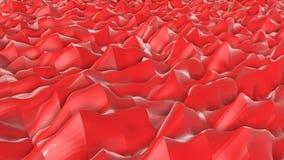 Geanimeerde oranje lage polyachtergrond 3d geef terug stock illustratie