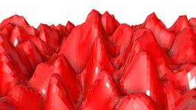 Geanimeerde oranje lage polyachtergrond 3d geef terug royalty-vrije illustratie