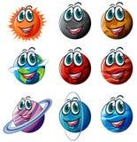 Geanimeerde planeten vector illustratie