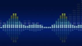 Geanimeerde uitstekende muziekvu meters Naadloze lijn-bekwame 4K royalty-vrije illustratie