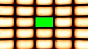 Geanimeerde vervormde gebogen uitstekende videomuur met het groene scherm het 3D teruggeven 4k stock illustratie