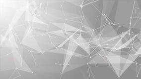 Geanimeerde video van verbonden lijnen en punten stock footage
