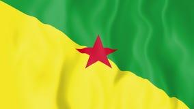Geanimeerde vlag van Frans-Guyana stock illustratie