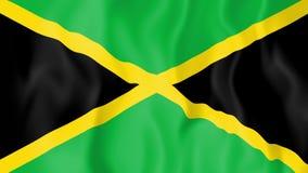 Geanimeerde vlag van Jamaïca stock illustratie