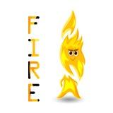Geanimeerde vlam Stock Foto