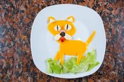 Geanimeerde voedselhond Royalty-vrije Stock Afbeelding
