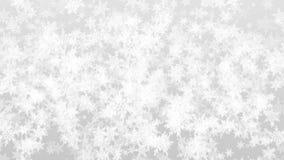 Geanimeerde witte gedetailleerde sneeuwvlokkenachtergrond voor tekst of titels De Kerstman op een slee vector illustratie