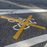 Geannuleerd fietsteken royalty-vrije stock fotografie