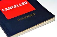 Geannuleerd Paspoort royalty-vrije stock foto