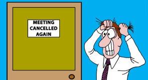 Geannuleerde vergadering stock illustratie