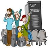 Geannuleerde vlucht royalty-vrije illustratie