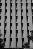 Geaometic skuggor på byggnad Arkivbilder