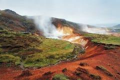 Geaothermal area Seltun near Krysuvik - Iceland Stock Image