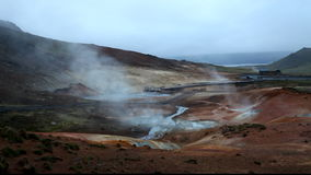 Geaothermal area Seltun near Krysuvik - Iceland stock footage