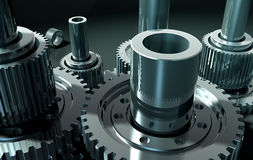 Gear_10. Backgrounds  gears engineering technology backdrop Stock Photos