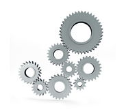 Gear. Isolated on a white background Stock Images
