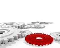 Gear. A group of cogwheels on a white backgrounds Stock Photography