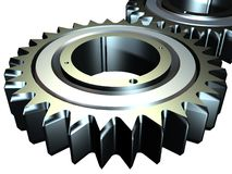 Gear. Render of a 3d Royalty Free Stock Photo