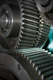 Gear. The metal gear in motion. work mechanism Stock Photography