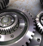 Gear_2. Backgrounds  gears engineering technology backdrop Royalty Free Stock Image