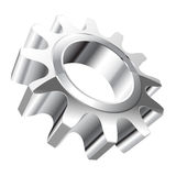Gear. Illustration gear isolated on a white background stock illustration