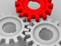 Gear. Many gear. 3d isolated object royalty free stock images