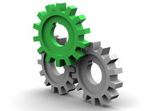 Gear. 3d. Beautiful three-dimensional graphic object royalty free illustration