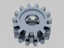 Gear. Very beautiful three-dimensional graphic object. Gear 3d Royalty Free Stock Photos
