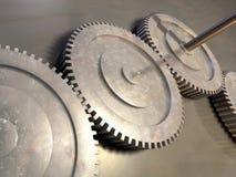 Gear. Some gear on a metal surface. Digital illustration vector illustration