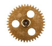 Gear. Macro view of gear isolated over white background Royalty Free Stock Photo
