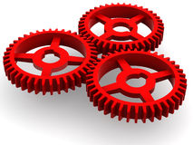 Gear. Very beautiful three-dimensional illustration. Gear. 3d Stock Images