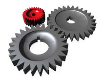 Gear. Background possible to use for printing and project Royalty Free Stock Photos