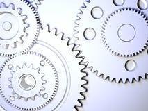 Gear. Mechanism concept - 3d render Royalty Free Stock Photos