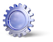 Gear. Nice reflection on a gear with shadow on white in perspective. Easy to isolate stock illustration