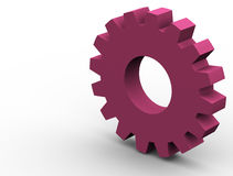 Gear. 3d gear render Royalty Free Stock Photography