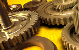 Gear_7. Backgrounds  gears engineering technology backdrop Royalty Free Stock Images